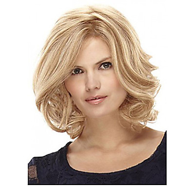 Synthetic Hair Wigs Curly Capless Blonde