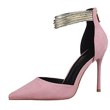 Dames Hoge hakken Herfst Comfortabel Fleece Informeel Stilettohak Overige Zwart / Roze / Rood / Grijs / Donker Rood / Amandel Others