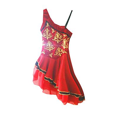Eiskunstlaufkleid Damen Mädchen Eislaufen Kleider Rot Strass Outdoor Kleidung Leistung Eiskunstlaufkleidung Handgemacht Klassisch Ärmellos