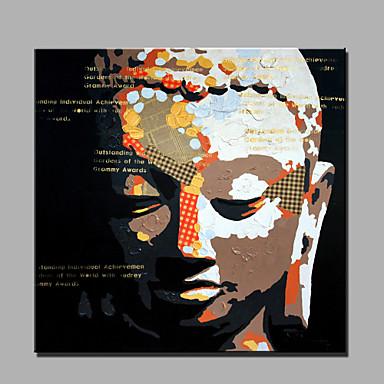 Kézzel festett Emberek Négyzet, Modern Vászon Hang festett olajfestmény lakberendezési Egy elem