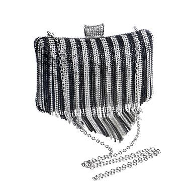 Damen Taschen Polyester Abendtasche Crystal / Strass für Hochzeit Veranstaltung / Fest Normal Formal Büro & Karriere Ganzjährig Silber