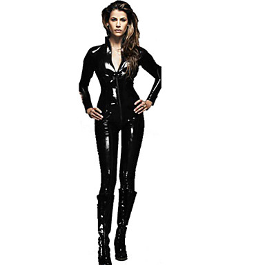 Assassin Skinande Zentai Dräkter Cosplay Kostymer / Dräkter Herr Dam Sexiga Uniformer Halloween Karnival Nyår Festival / högtid Halloweenkostymer outfits Svart Enfärgad