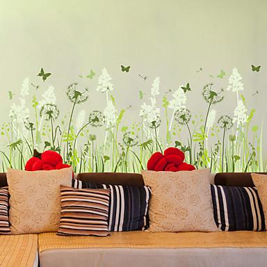 Moda Floral Adesivos de Parede Autocolantes de Aviões para Parede Autocolantes de Parede Decorativos Material RemovívelDecoração para