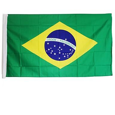 novos pés 3x5 grande bandeira brasileira de poliéster nacional bandeira decoração da casa Brasil (sem haste)