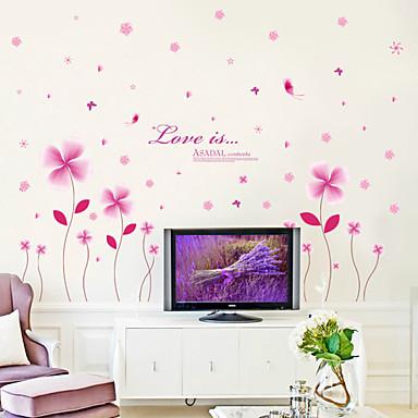 Romantik Mode Blumen Wand-Sticker Flugzeug-Wand Sticker Dekorative Wand Sticker Stoff Abziehbar Haus Dekoration Wandtattoo