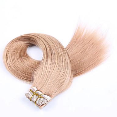 Zum Festkleben Haarverlängerungen Echthaar Gerade 20pcs / Packung 18 Zoll 20 Zoll 22 Zoll 24 Zoll 26 Zoll