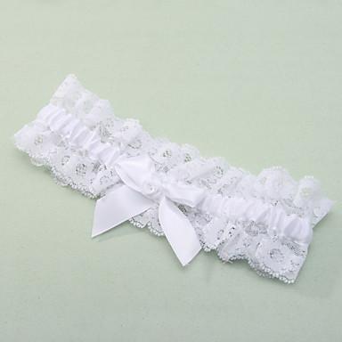 Polyester Spitze Klassisch Hochzeitsstrumpfband  -  Schleife Spitze Strumpfbänder