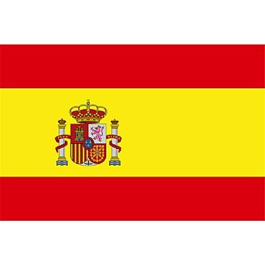 Spanien-Flagge Nation Polyester Banner fliegen individuelle Flagge auf der ganzen Welt weltweit im Freien (ohne flagpole)