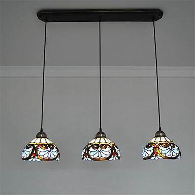 CXYlight Pendelleuchten Moonlight - Ministil, Tiffany, 110-120V 220-240V Glühbirne nicht inklusive