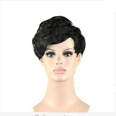 Synthetic Hair Wigs Curly Capless Black Wig Black Daily