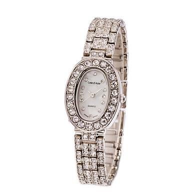 Mulheres Relógio de Moda Quartzo Impermeável imitação de diamante Aço Inoxidável Banda Elegantes Prata Prata