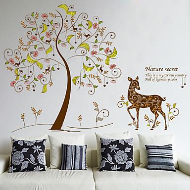 Kasvitieteellinen Romantiikka Muoti Wall Tarrat Lentokone-seinätarrat Koriste-seinätarrat materiaali Irroitettava Kodinsisustus Seinätarra