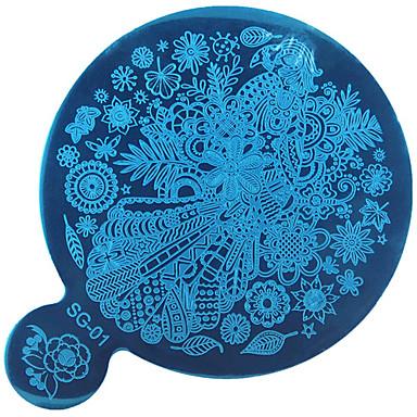 סרט בלק כחול DIY 1pc אמנות תבנית ההדפסה המראה