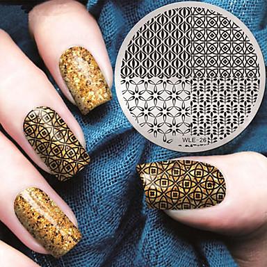 2016 neueste Version Art und Weise geometrische Muster Nagelkunst Stamping Schablone Platten