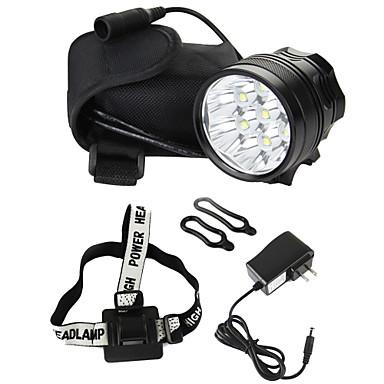 תאורה פנסי ראש LED 8000 Lumens 3 מצב Cree XM-L T6 18650ניתן לטעינה מחדש / עמיד לחבטות / Strike Bezel / גודל קומפקטי / טקטי / חירום / קל