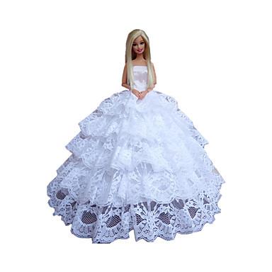 Prinsesse Kjoler Til Barbiedukke polyester Kjole Til Pigens Dukke Legetøj