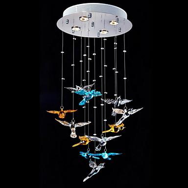 Pendelleuchten Raumbeleuchtung - Kristall, Modern / Zeitgenössisch, 110-120V 220-240V, Wärm Weiß, Inklusive Glühbirne