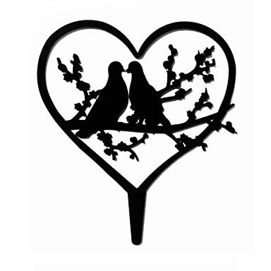 Figure za torte Vrt Tema Hearts Opeka Vjenčanje godišnjica Djevojačka večer s 1 OPP