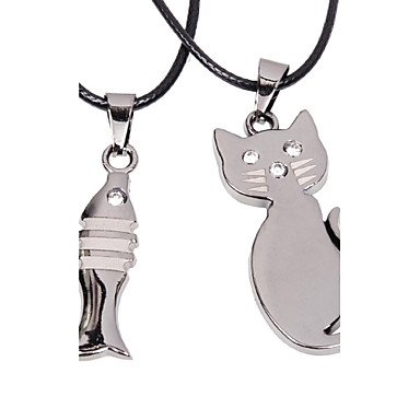 Modische Halsketten Anhängerketten Schmuck Party / Alltag / Normal / Sport Geometrische Form Aleación / Titanstahl Silber 1 Stück Geschenk