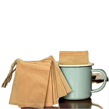 61pcs שרוך מחרוזת פנוי בניחוח שקיות תה ריק חותם מסנן נייר