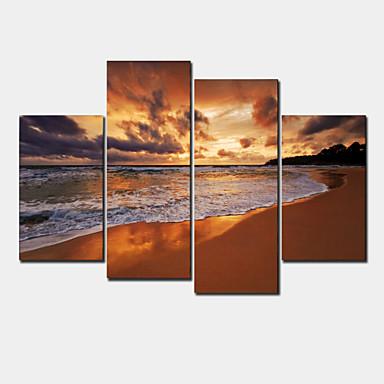 Pingoitetut kanvasprintit Moderni 4 paneeli Horizontal Wall Decor For Kodinsisustus