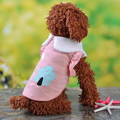 Hund Trøye/T-skjorte Hundeklær Lilla Gul Blå Rosa Terylene Kostume For kjæledyr Herre Dame Mote