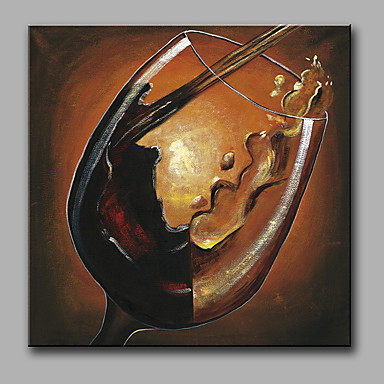 Håndmalte fantasi Kvadrat, Moderne Lerret Hang malte oljemaleri Hjem Dekor Et Panel