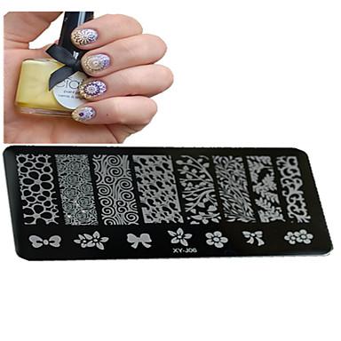 1 pcs Utarbeidelse Verktøy og tilbehør / stempling Plate / Nail Stamping Tool Mal Stilfull / Professjonell / Høy kvalitet Nail Art Design