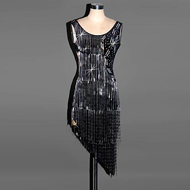 Latein-Tanz Kleider Damen Leistung Elasthan Drapiert Kleid
