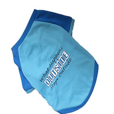 Dog Shirt / T-Shirt Dog Clothes Letter & Number Blue Nylon Costume For Pets Men's Fashion