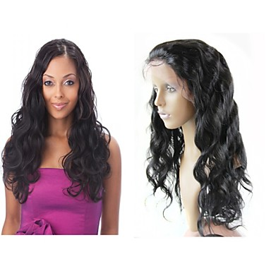 brazylijski ludzki włos koronki przodu peruk 130% # 1 # 2 # 1b # 4 ciała fala Glueless peruka pół perukę