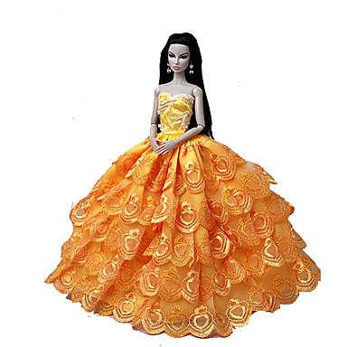 Ślub Sukienki Dla Lalka Barbie Koronka Organza Ubierać Dla Dziewczyny Lalka Zabawka