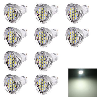 10 Stück 6000 lm GU10 LED Spot Lampen R63 16 LED-Perlen SMD 5630 Dekorativ Kühles Weiß 220-240 V