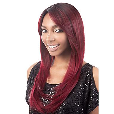 Synthetische Haare Perücken Große Wellen Mit Pony Rot