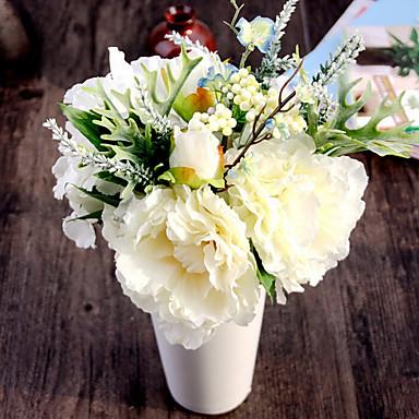 1 Ast Seide Pfingstrosen Hortensie Tisch-Blumen Künstliche Blumen