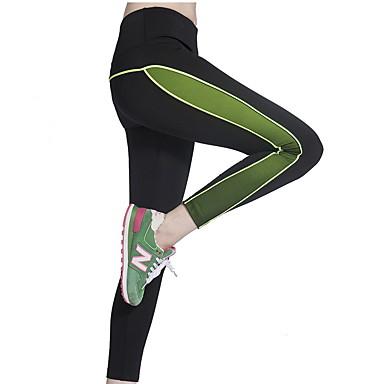 מכנסיים יוגה טייץ רכיבה על אופניים נושם ייבוש מהיר טבעי מתיחה בגדי ספורט ירוק אפור ורוד כהה לנשים יוגה כושר גופני ריצה