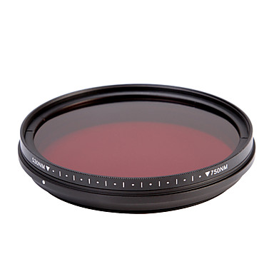 fotga® tudo-em-um ajustável 530nm-750nm passe ir infravermelho raio-x filtro de lente 82 milímetros