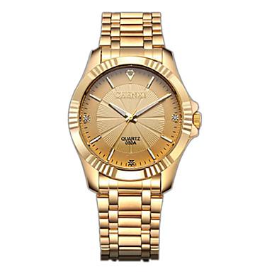 CHENXI® Męskie Kwarcowy Sztuczny Diamant Zegarek Zegarek na nadgarstek Do sukni / garnituru Japoński sztuczna Diament Stal nierdzewna