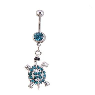 Női Testékszer Navel & Bell Button Rings Egyedi Divat Cirkonium Hamis gyémánt Mások Teknősbéka Állat Ékszerek Kompatibilitás Napi
