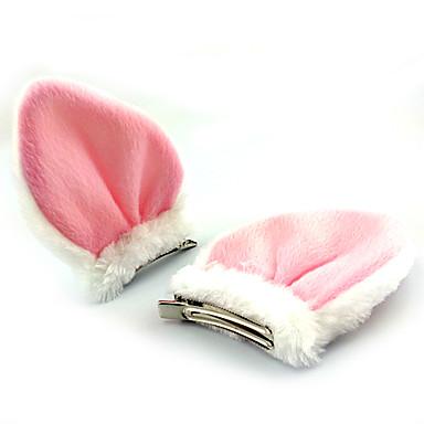 Acessórios Lolita Doce Decoração de Cabelo Princesa Mulheres Branco Preto Acessórios Lolita Retalhos Decoração de Cabelo Lã Polar