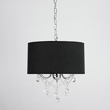 QINGMING® 3-Light Drum Pendant Light Ambient Light - Crystal, Mini Style, 110-120V / 220-240V Bulb Not Included / 15-20㎡ / E12 / E14