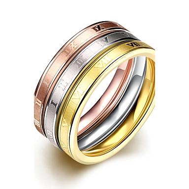 נשים לזוג טבעות רצועה אופנתי פלדת על חלד פלדת טיטניום תכשיטים עבור חתונה Party יומי קזו'אל