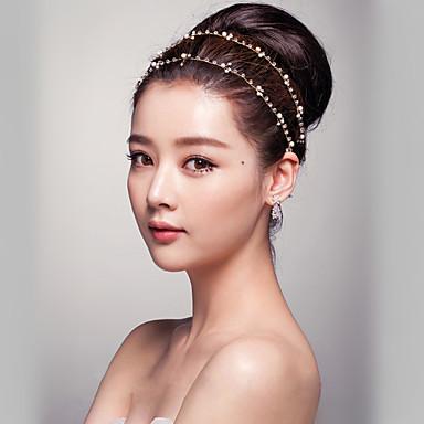 Damen Kristall Künstliche Perle Kopfschmuck-Hochzeit Besondere Anlässe im Freien Stirnbänder 1 Stück