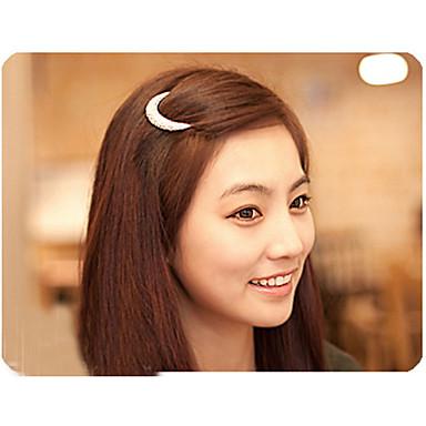 mais novo de cabelo de cristal lua de strass acessórios para mulheres, grampos de cabelo para meninas cocar hairpin grampos hb144