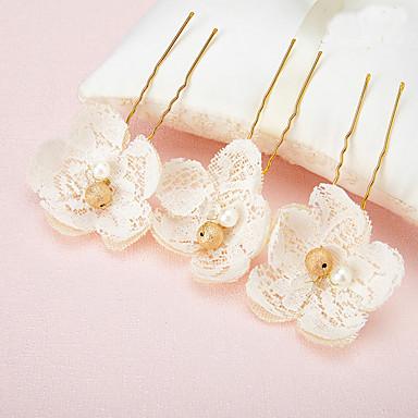 perle blonder legering hår pin headpiece elegant klassisk feminin stil