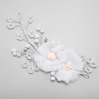 Damen Blumenmädchen Kristall Legierung Künstliche Perle Kopfschmuck-Hochzeit Besondere Anlässe Stirnbänder 1 Stück