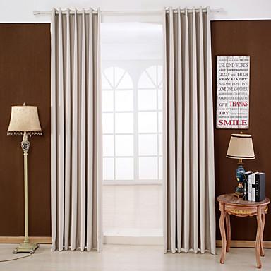 Stanglomme Propp Topp Fane Top Dobbelt Plissert To paneler Window Treatment Moderne Ensfarget Soverom Rayon Materiale Blackout Gardiner