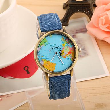 Pentru femei Ceas de Mână Quartz Piele PU Matlasată Negru / Alb / Albastru Ceas Casual Analog femei Vintage Modă World Map Pattern - Rosu Verde Albastru Un an Durată de Viaţă Baterie / Tianqiu 377