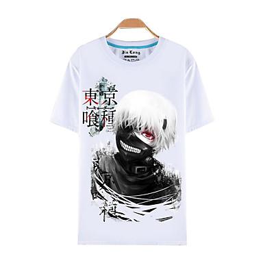 Inspiriert von Tokyo Ghoul Ken Kaneki Anime Cosplay Kostüme Cosplay-T-Shirt Druck Kurzarm Top Für Herrn