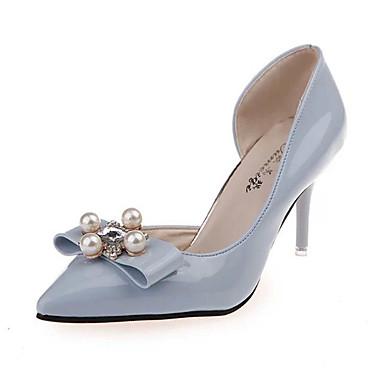 נעלי נשים-בלרינה\עקבים-PU-עקבים-שחור / כחול / ורוד / אדום / כסוף / בז'-חתונה / מסיבה וערב-עקב סטילטו